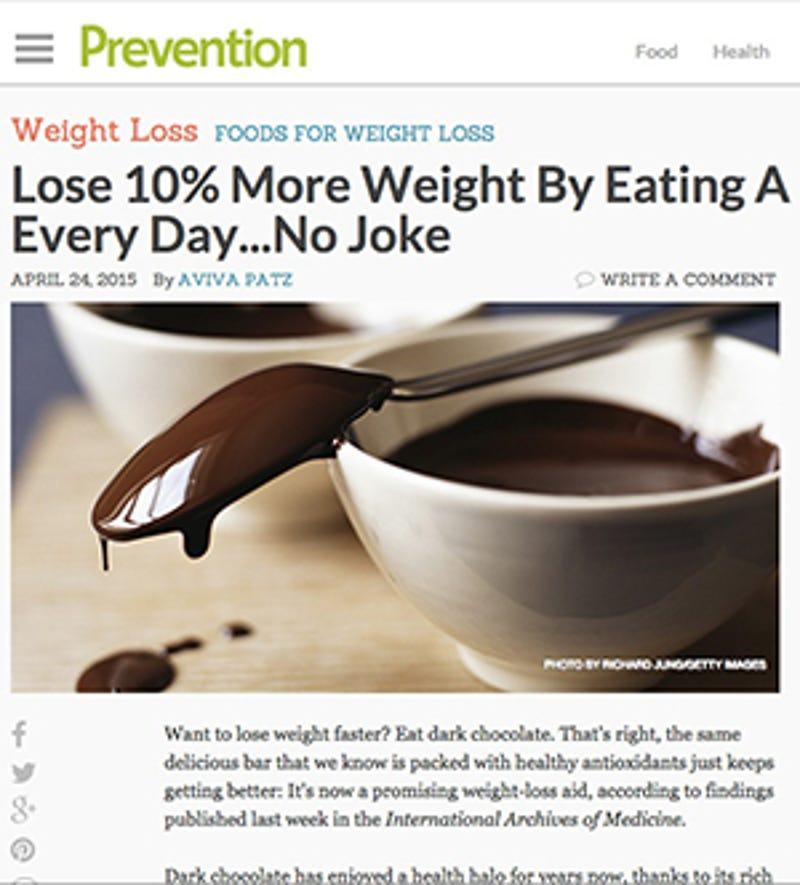 I Fooled Millions Into Thinking Chocolate Helps Weight Loss Here S How