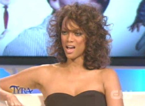 Tyra Unveils Real Hair; Interviews Evil Leprechaun