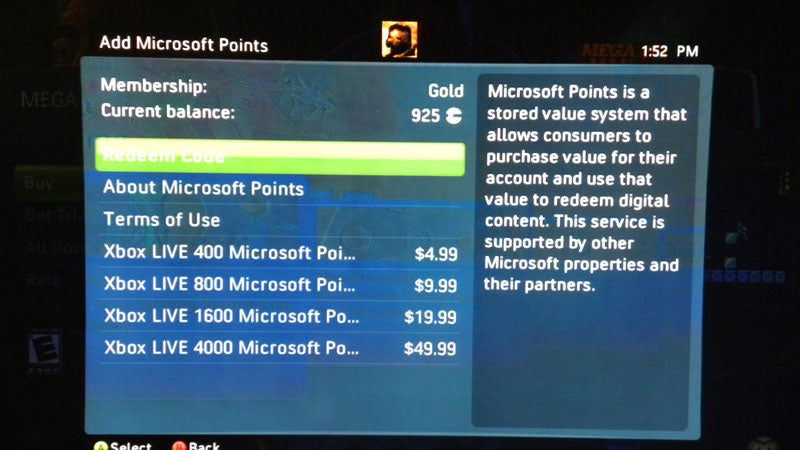 Microsoft Points Now Sold In More Reasonable Batches