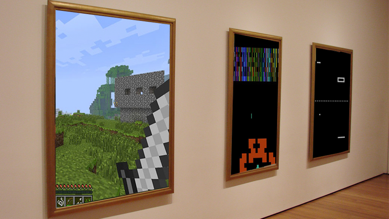 Pong and Minecraft Join 14 Classic Games in The Museum of Modern Art