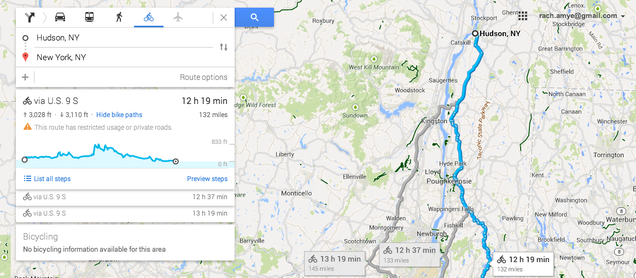 Google Maps Now Shows How Steep Your Bike Route Is
