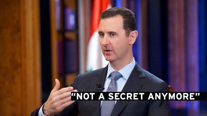 Assad: It's No Longer a Secret We Have Chemical Weapons