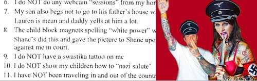 Jesse James' Tattooed Mistress Denies Being a Nazi Porn Star