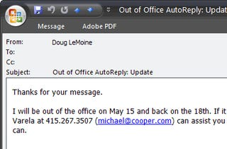 Screw You And Your Out Of Office Autoreply