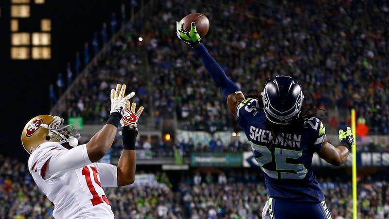 Super Bowl-Bound Seahawk Richard Sherman Wins Taunting Championship