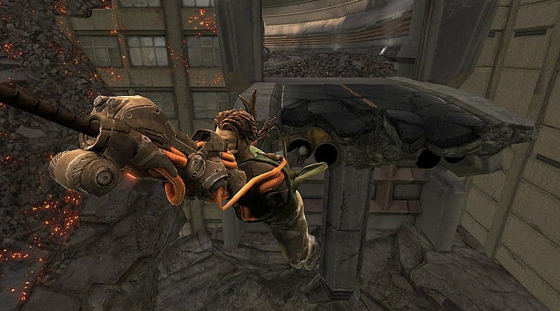 Bionic Arm Meets Desolate City