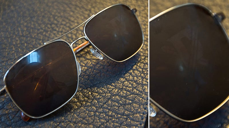 Minimalist Sunglasses Reveal a Hidden Logo When You Fog up the Lenses