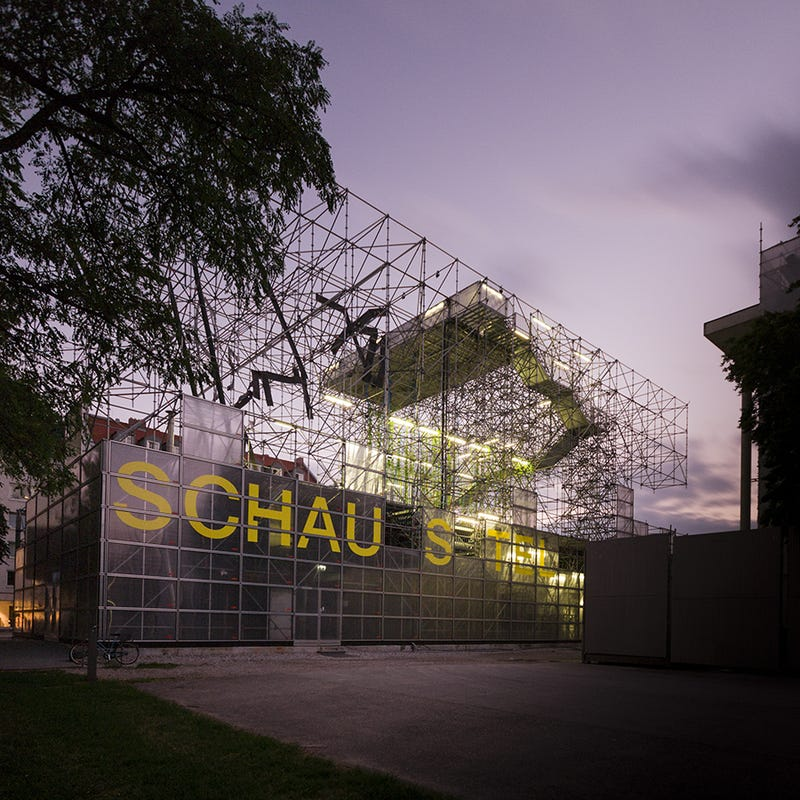 This Munich Museum Moved Into a Building Made Entirely of Scaffolding