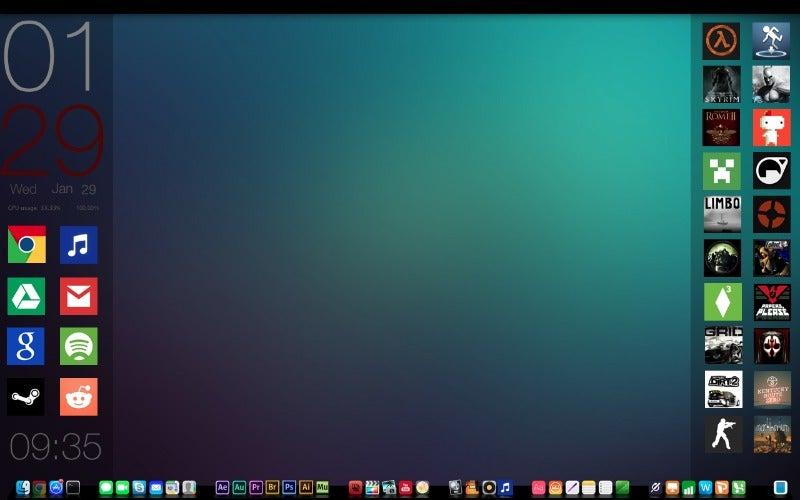 Clean Gaming/Work Desktop