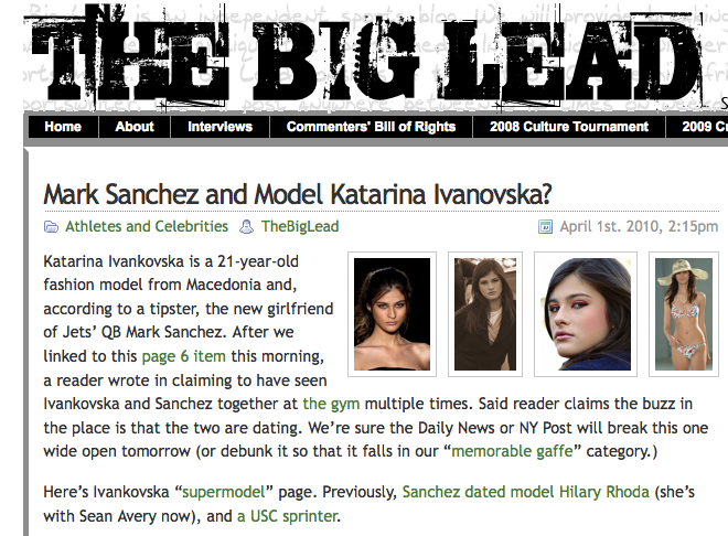 Who's Stupid Enough To Fall For A Mark Sanchez April Fool's Prank? Take A Wild Guess