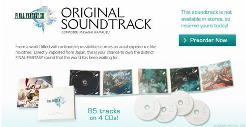 Preorder Final Fantasy XIII's Epic Soundtrack