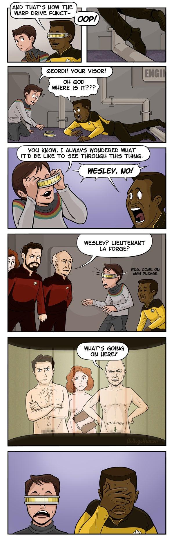 What Star Trek really looks like through Geordi's visor