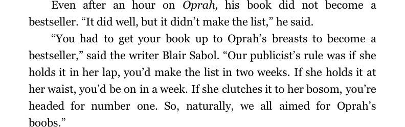 Excerpts From the Biography That Oprah Doesn't Want You to Read, Part 1