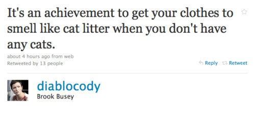 Diablo Cody Claims She Smells Like Cat Litter