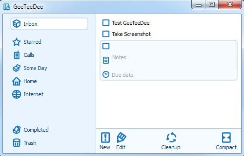GeeTeeDee Is a Lightweight and Customizable GTD Organizer