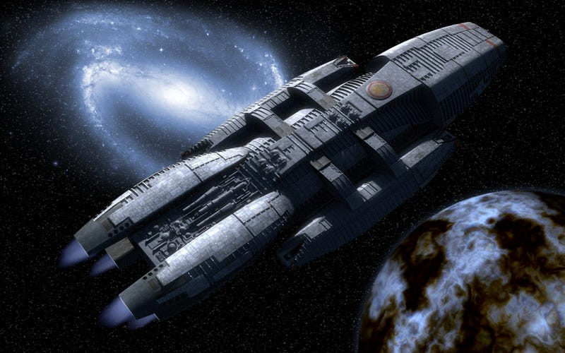 Is Battlestar Galactica in suspended animation?