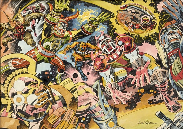 American Football as a Cosmic Jack Kirby Epic