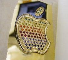 Gold MacBook Air Has Bejeweled Rainbow Apple