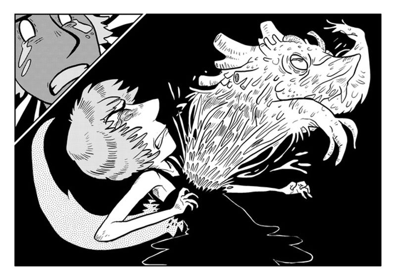 In the webcomic Monster Pulse, a government conspiracy turns human body parts into kooky kaiju