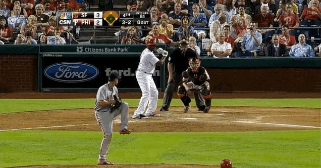 Ryan Howard Drives In Two On Check Swing