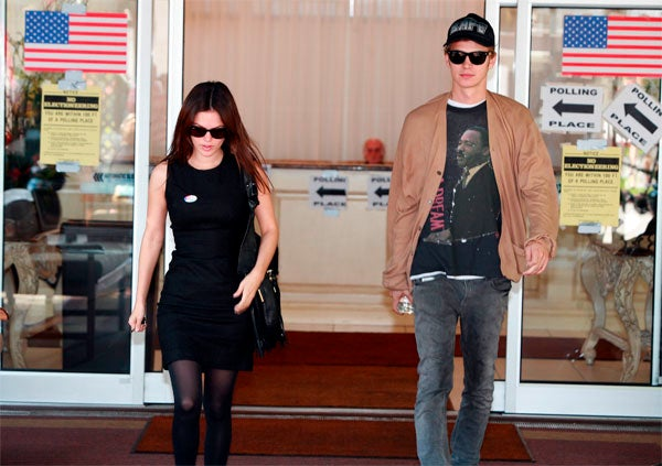 American Icon Carries Hayden Christensen To And From The Voting Booth