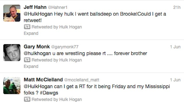 "Hulk Hogan Retweeted Gentleman Because He ""Went Balls Deep"" On His Daughter Brooke"