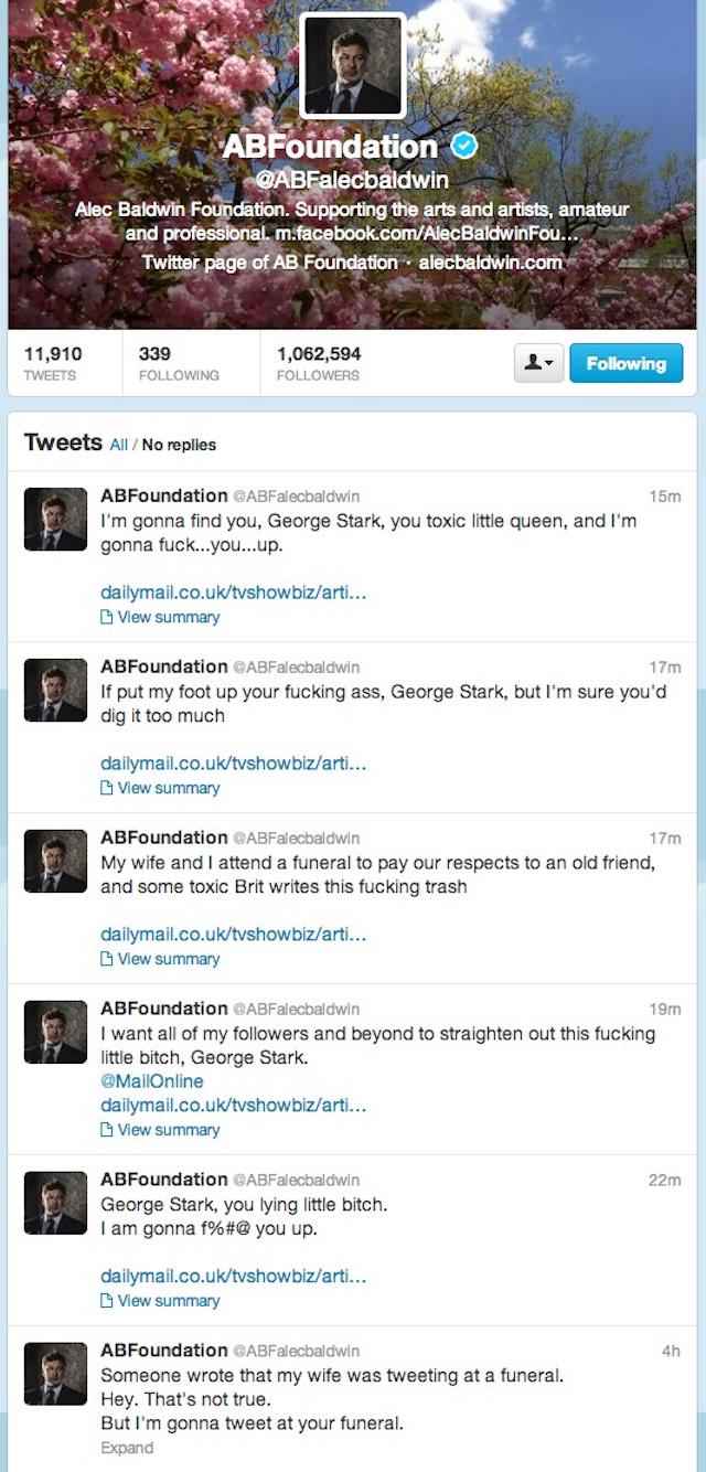 Alec Baldwin Has Homophobic Twitter Temper Tantrum