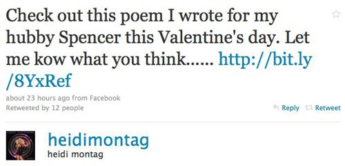 Heidi Montag Writes Poetry