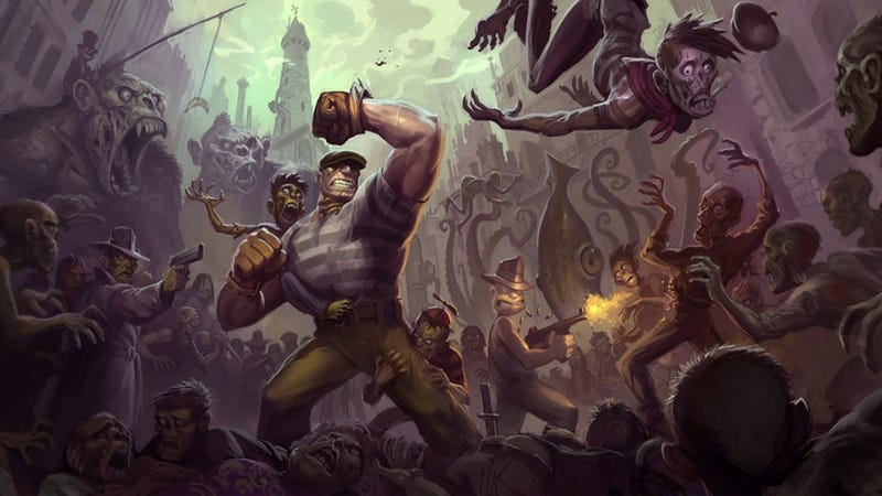 Zombie King Kong, Giant Squids and Hordes of Zombies in New Goon Concept Art