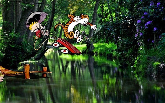 Photoshopping Calvin and Hobbes into Real Life Makes Me Really Happy