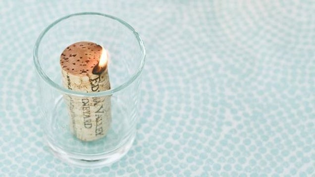 Soak Corks in Alcohol to Make Cheap Candles