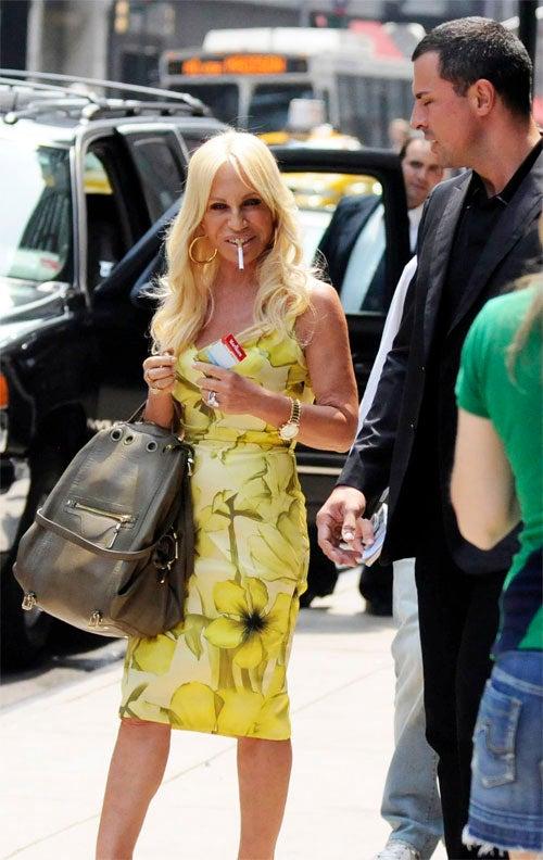 Donatella Versace Is Smokin'