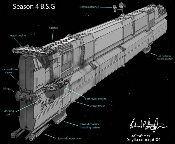 Battlestar's Designer Lovingly Creates A Ship, Only To Wreck It
