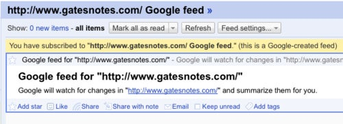Google Reader Gets Smart, Tracks Updates on Feedless Web Sites
