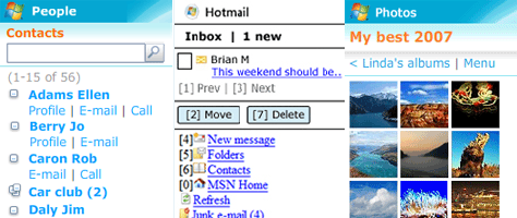 Windows Live Brings Hotmail, Messenger to Windows Mobile