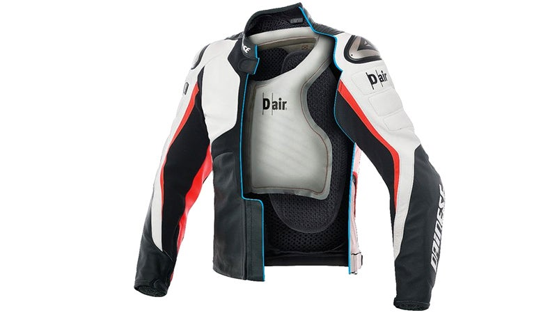 motorcyclist's jacket airbag