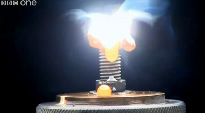 Watch Focused Sunlight Melt Steel, Rock, and Anything Else