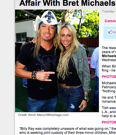 Bret Michaels, Miley Cyrus' Mom Had an Affair