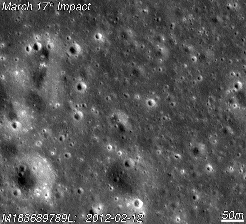 Our first glimpse of the Moon's newest crater