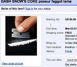 """Dash Snow's Coke"" On eBay New Frontier In Digital Art"