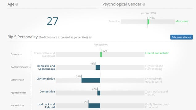 Research Tool Demonstrates How Your Facebook Likes Reveal Your Personality