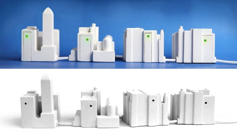 Tiny Desktop Metropolis Gives You Four City Blocks of Extra USB Ports