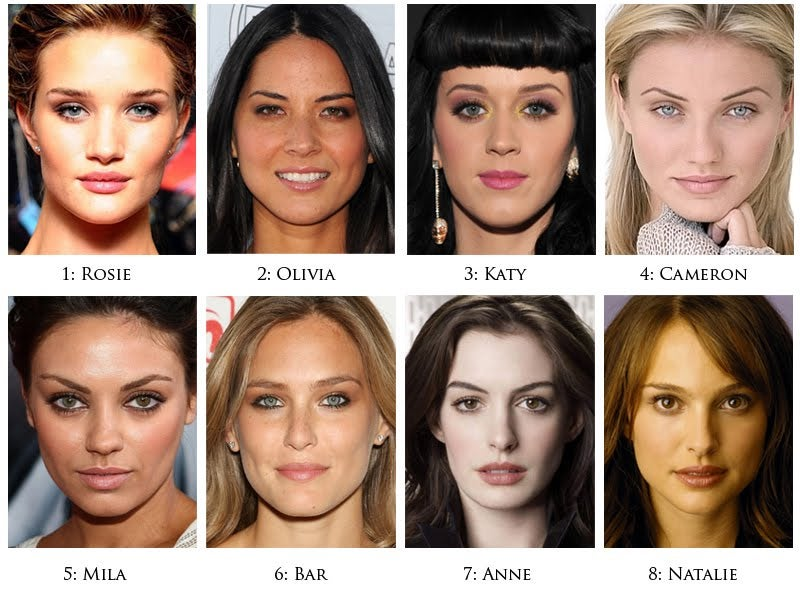 Eight of the world's prettiest women merged into one (perfect?) being