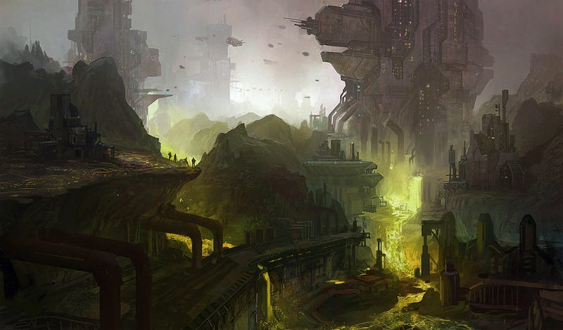 The kingdom was hewn from rocks that floated in air, joined only by the steel of bridges