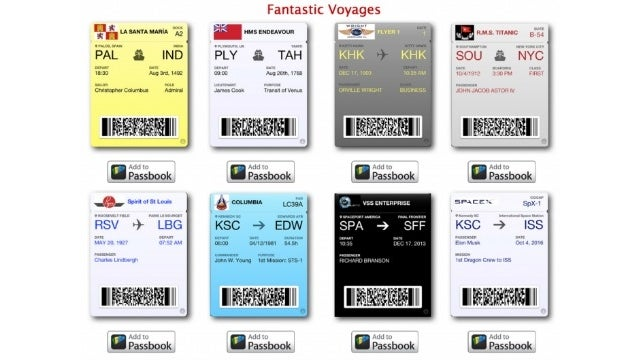 Turn Your Passbook Into a Time Machine with These Historical Tickets