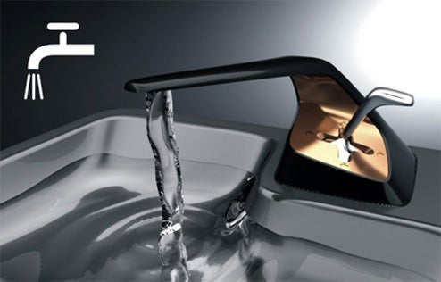 Gear Shift Faucet: Wash Dishes in The Fast Lane
