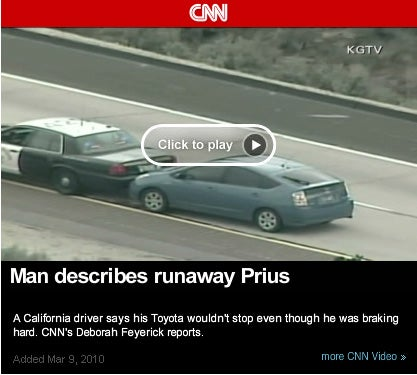 "Government documents prove ""Runaway Prius"" was a hoax"