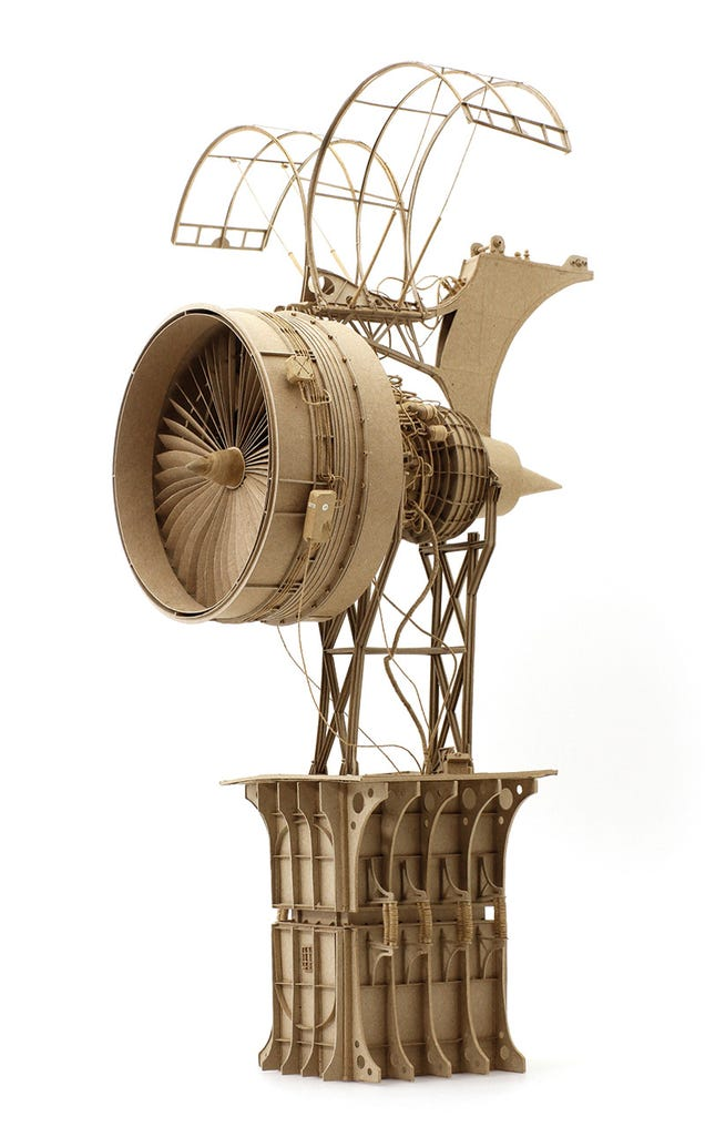 Leonardo Da Vinci would be proud of these cardboard flying machines