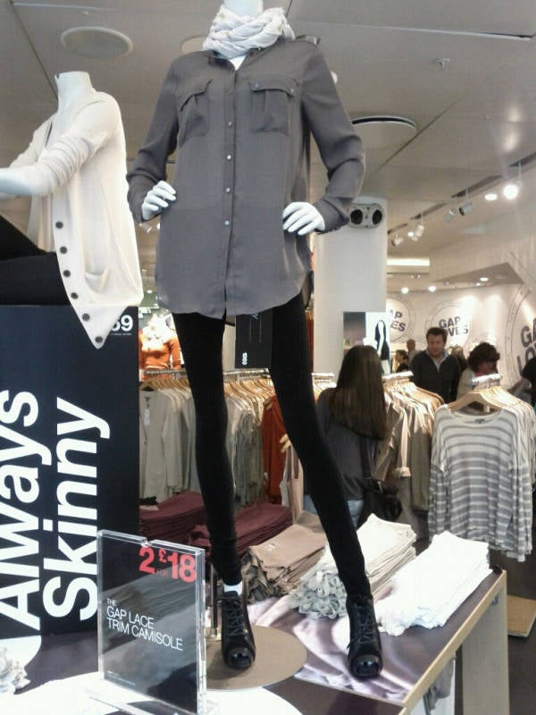 Gap Mannequins Are Very, Very, Very Skinny