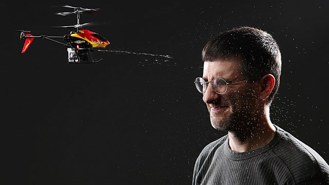 Squirting RC Helicopter Brings The Water Gun Fight To Your Opponent